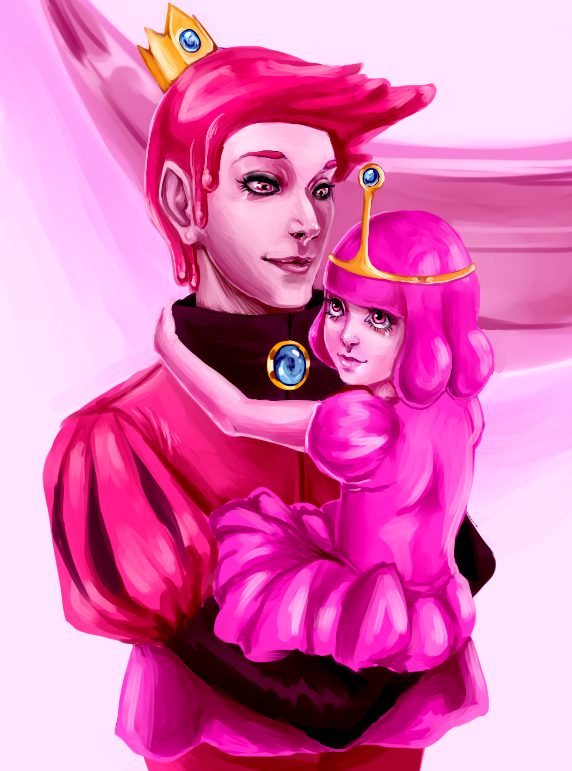 Prince and Princess Bubblegum by Berserk-Cyborg-Panda