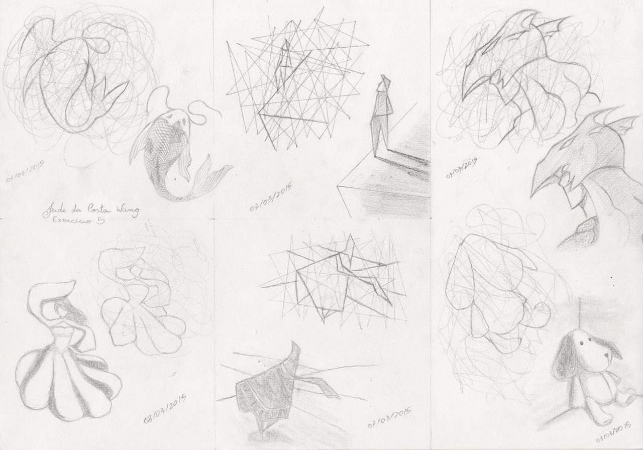 Scribble Drawing Exercise : Right and left hand exercise scribbles by tsukianimegirl on