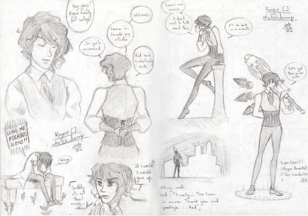 Royce [] sketchdump by TsukiAnimeGirl
