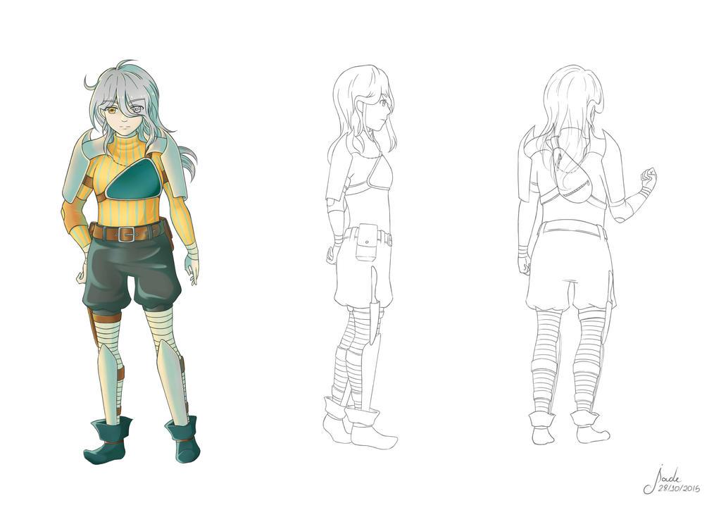 Liz - Model Sheet by TsukiAnimeGirl