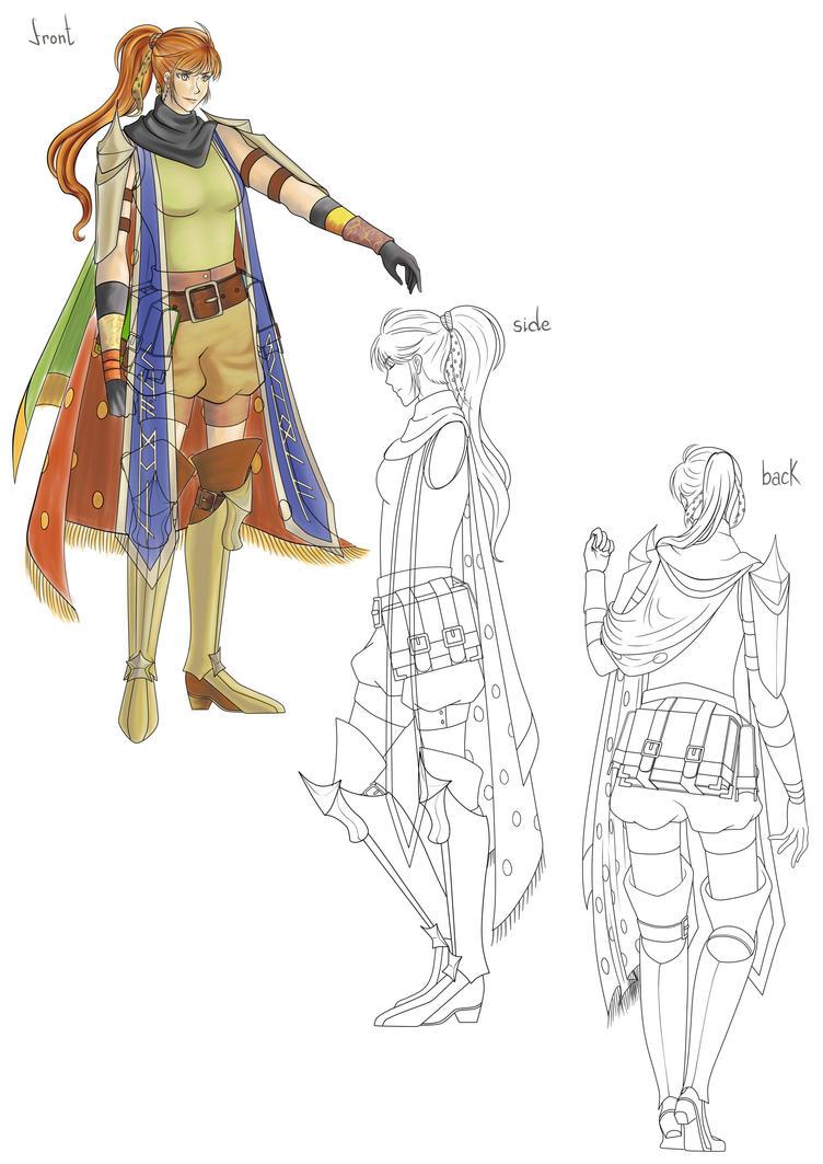 Brigid - Model Sheet by TsukiAnimeGirl