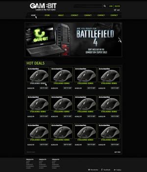 GameBit Website Mock-up