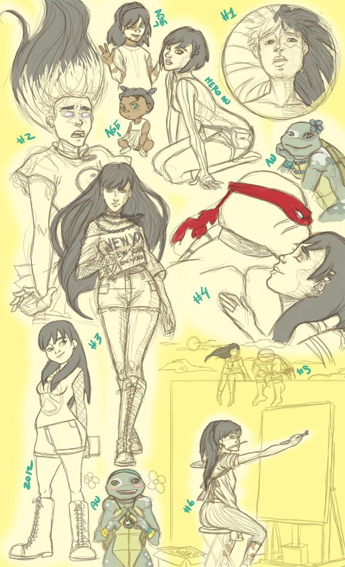CaE: Nia Sketch Collage by Faylinn-Night