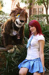 Lion Sora and Kairi by MonkeyHeartless