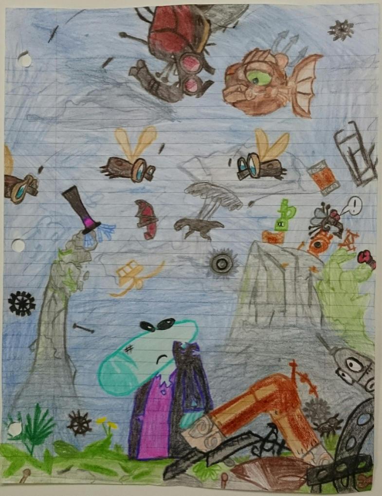 Ales' fallen mecha-empire by ProcyonNoumer