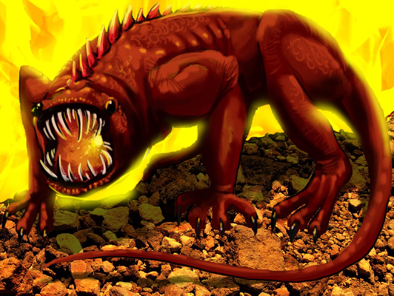 I Am Legend Monsters Sleeping Homicidal Fire Monster...
