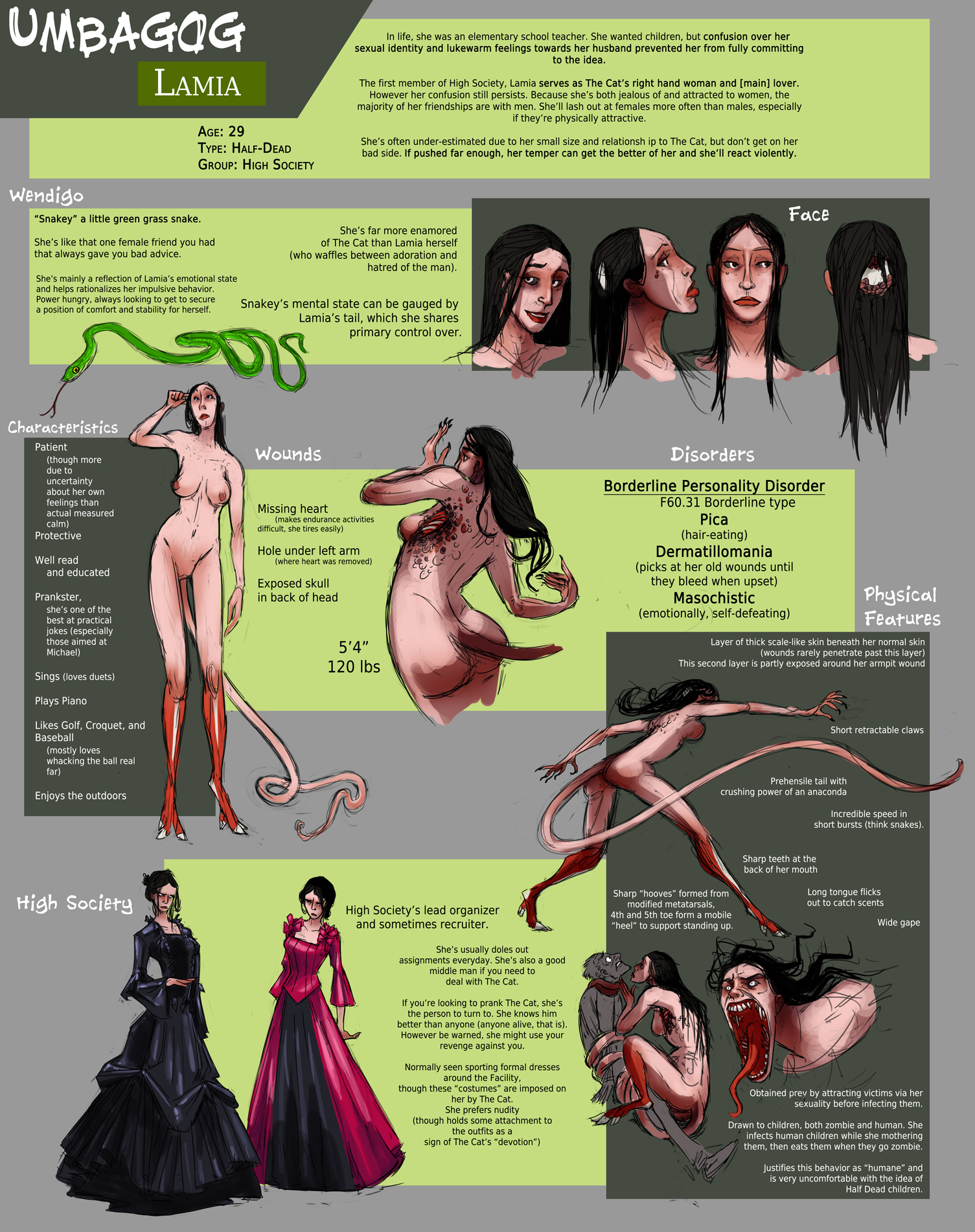 Lamia Sheet by FablePaint