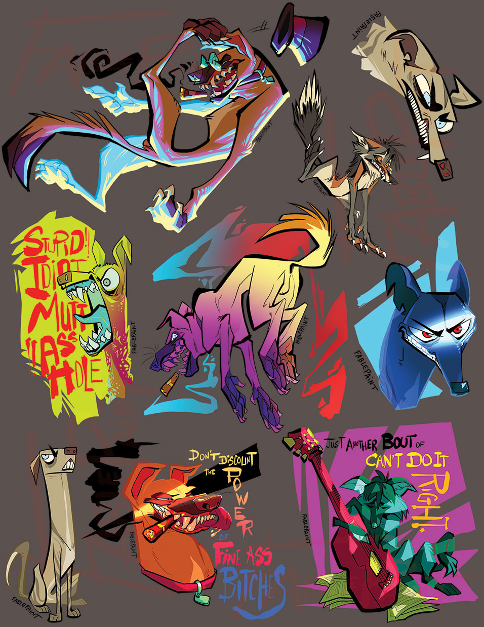 Patreon Stickers for September by FablePaint