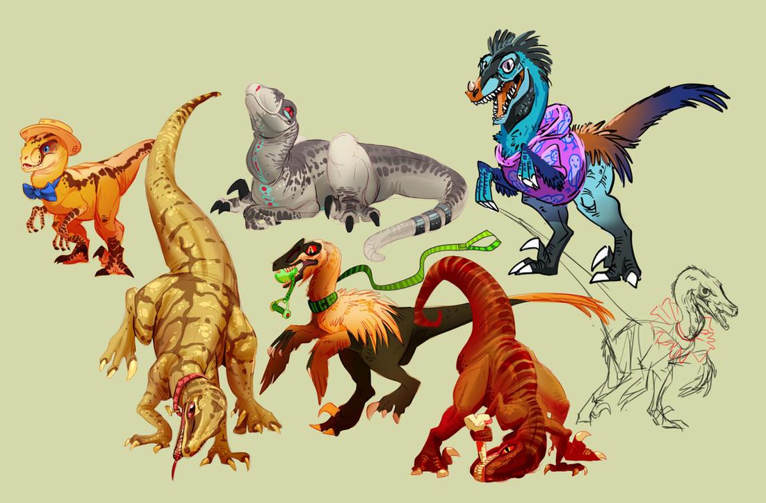 Stream raptors by FablePaint