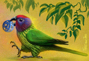 Goldie's Lorikeet by FablePaint