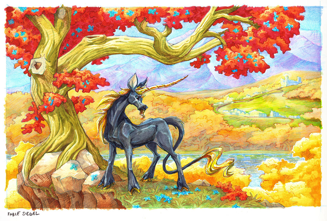 Autumn Unicorn by FablePaint
