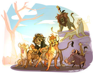 Reverse Disney: Lion King by FablePaint