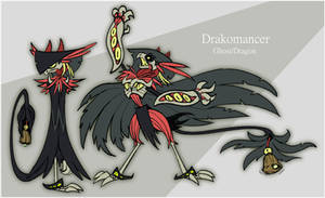 Drakomancer Ghost Dragon Pokemon by FablePaint