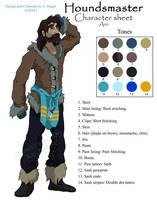 Houndsmaster Arri Model Sheet by FablePaint