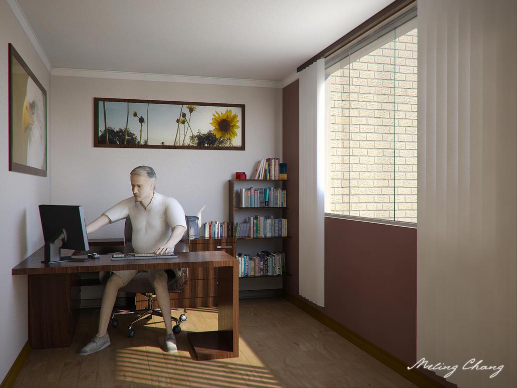 wallpaper 3d office room