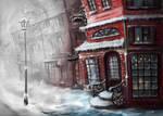 Winter town by AnryMaryStudio
