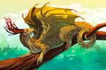 Swamp dragon by AnryMaryStudio