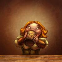 Female hobbit by Bubaben