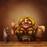 Female Dwarf by Bubaben