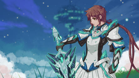 Xenoblade Chronicles 2: Lora as the Aegis driver