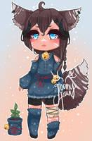 [closed] sleepy star kitsune - flatprice by GloomyFawn