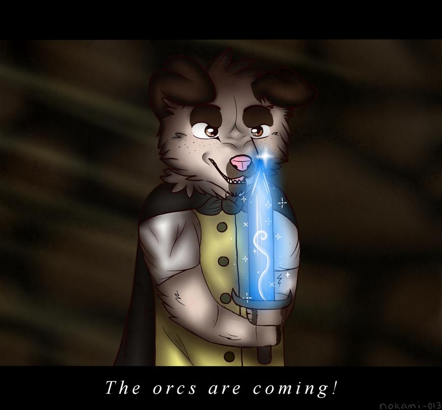 A Brave Hobbit by meokami