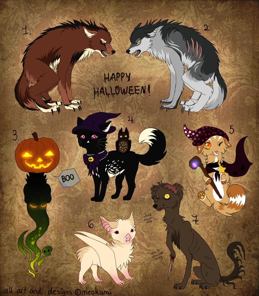 Halloween adopts 2014 CLOSED by meokami