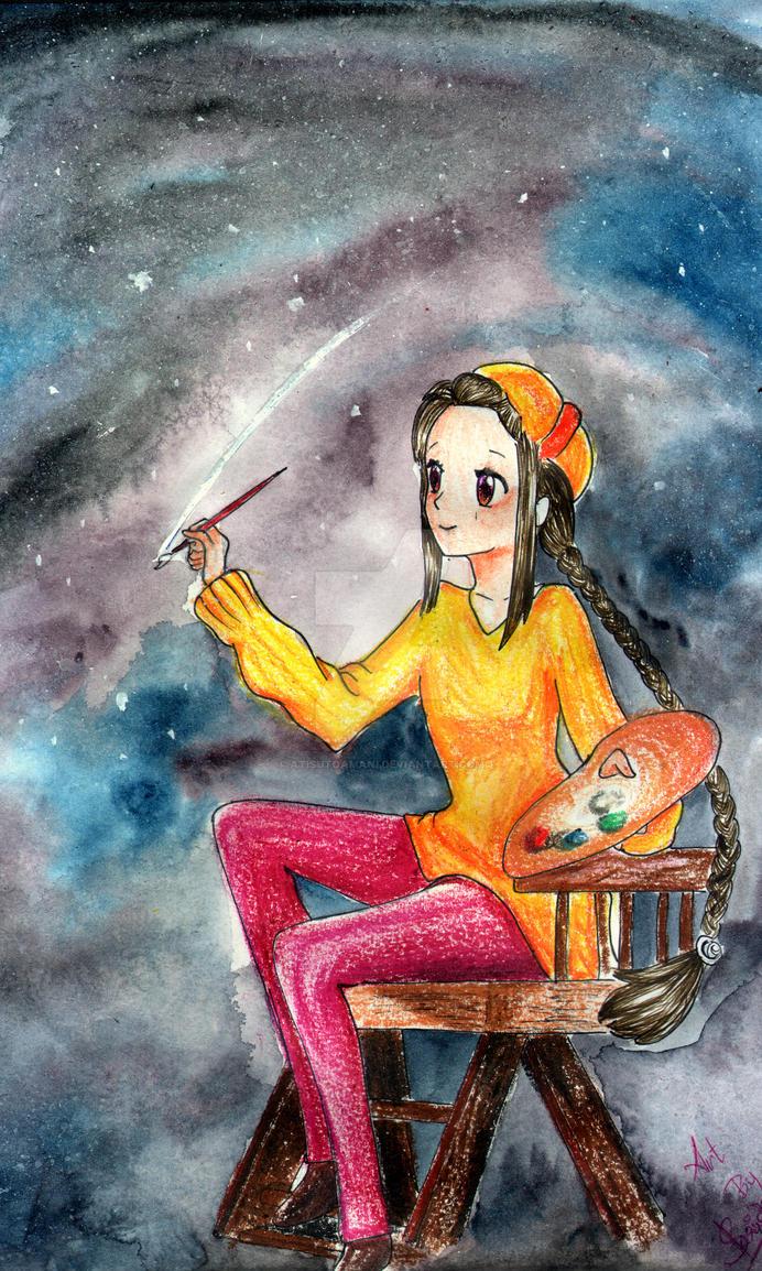 Painting the night sky by AtisutoAmani