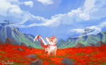 Field of Red by FLOCKINGCROW