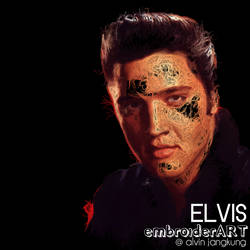 Elvis Presley by embroiderart