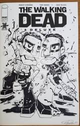 Rick VS Negan BW cover  by Hxavierscorner
