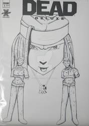 Michonne with walkers  Fan Art cover by Hxavierscorner
