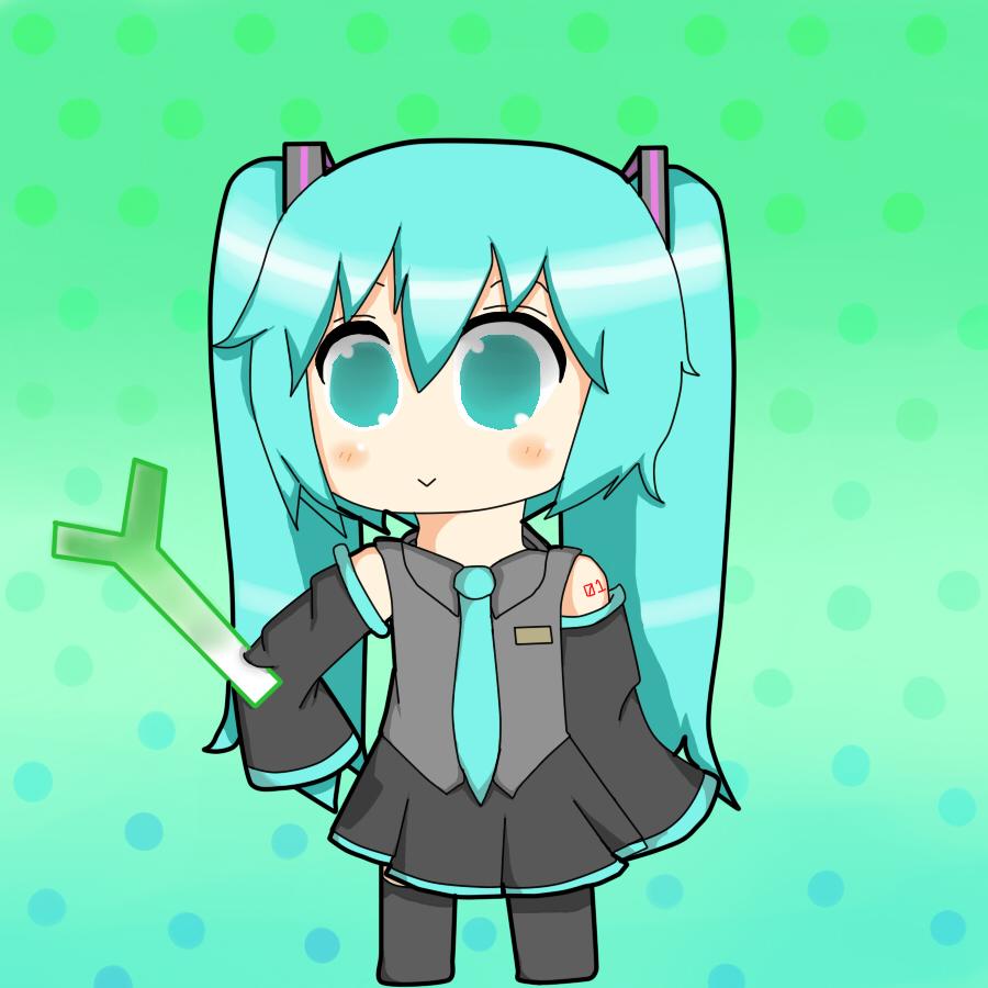 Chibi Hatsune Miku by Neko-chan828 on deviantART