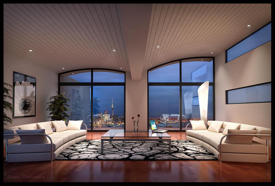 Luxury condominium by 3dserge on deviantart for Interior designs for condo