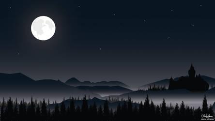 Moonlight Night Forest