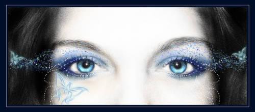 Blue Magic of Her Eyes by juliazip