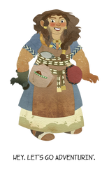 Dwarf Lady by lemonflower