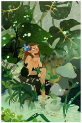 Rainy Day Fairy by lemonflower