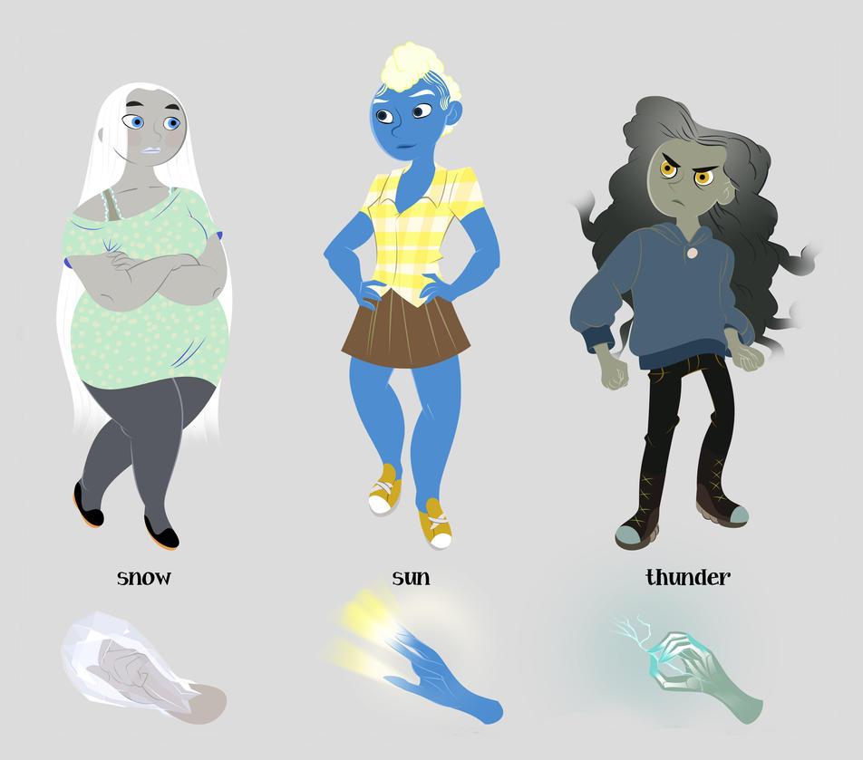 Weathergirls by lemonflower