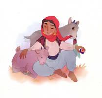Goat Girl by lemonflower