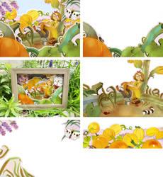 Pumpkins Diorama