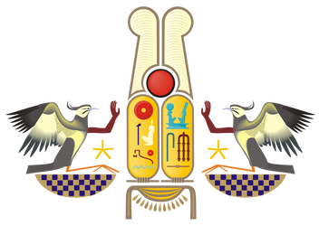 Ramesses the Great's Cartouches Adored by Rekhyts by HoremWeb