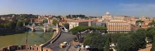 Vista di Roma dal Castel San Angelo (var DA)