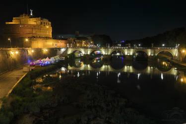 Roma, Tevere e Castel San Angelo, MMXVII by HoremWeb