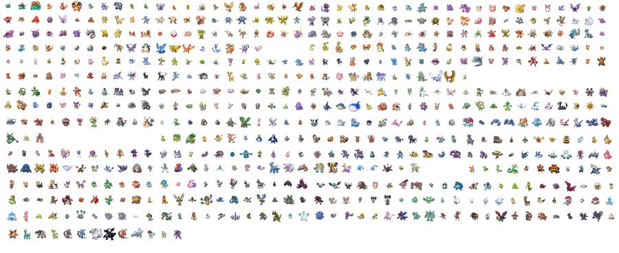 Group of All Pokemon Sprites So