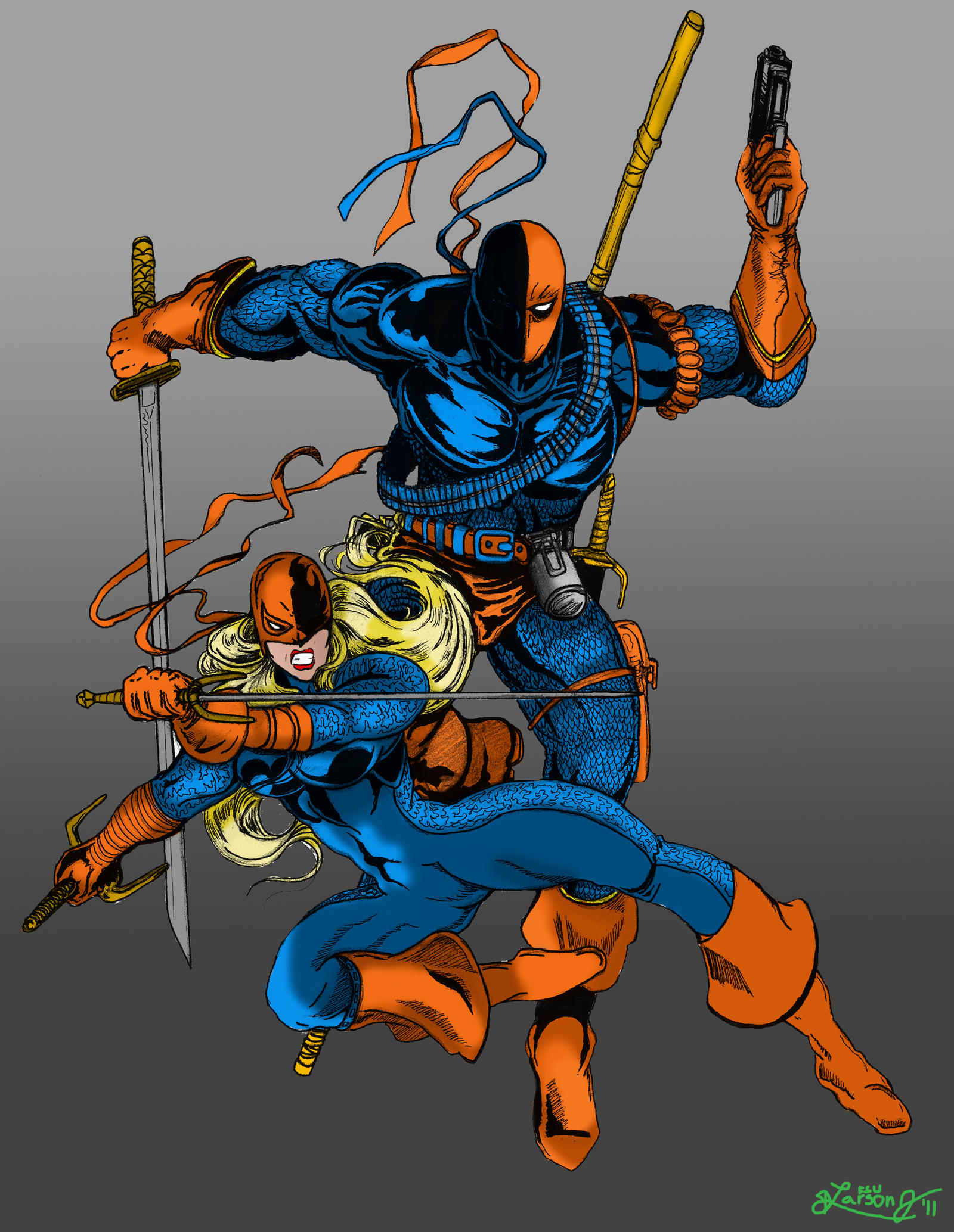 DeathStroke and Ravager Colors by LarsonJamesARTDeathstroke And Ravager