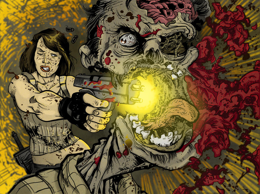Zombie Years 4 cover by LarsonJamesART