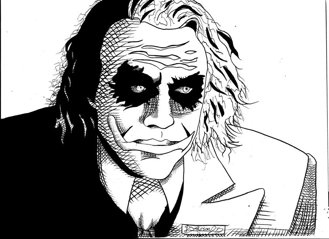 The Joker Line Art : Joker lineart by larsonjamesart on deviantart
