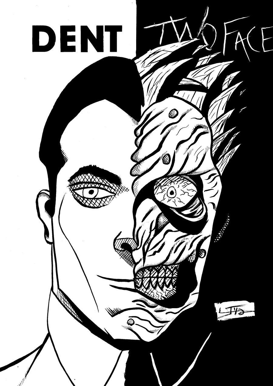 harvey two face by larsonjamesart on deviantart