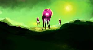 Alien Hot Air Balloons